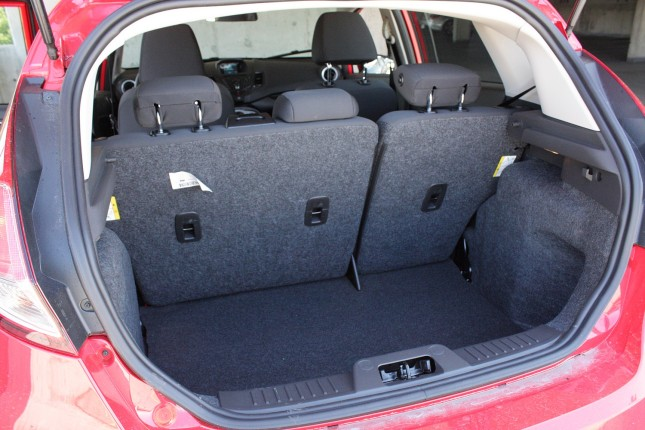 2014 Ford Fiesta EcoBoost trunk